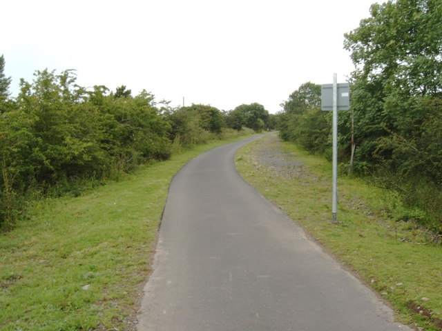 Cycle path along the route of an old railway line