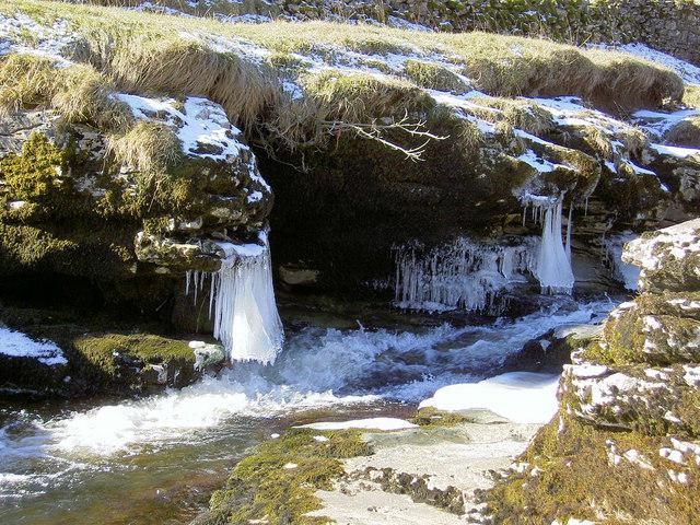 Frozen water.