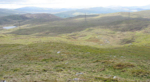 View South from the summit of Pen y Foel-ddu