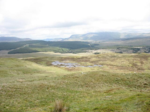 Llyn y Foel-ddu from the summit of Pen y Foel-ddu