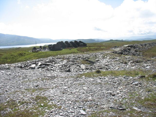 Braich-ddu barracks from the quarry