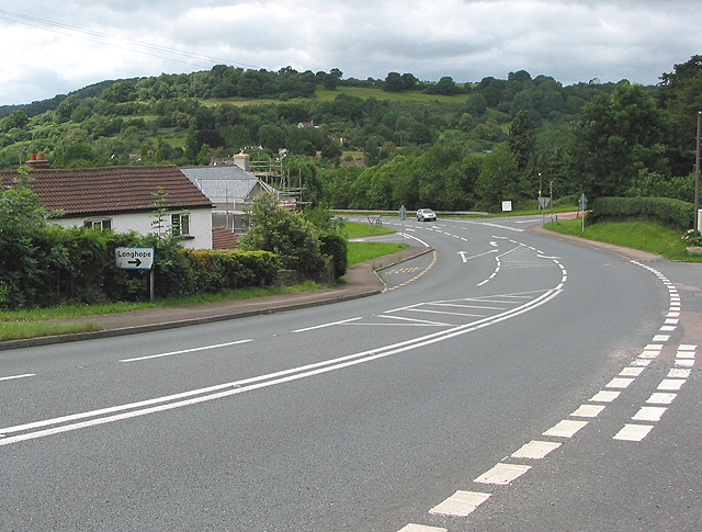 The Longhope junction on the A4136