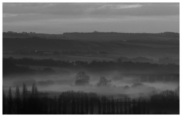 Early morning mist over Dearne Valley
