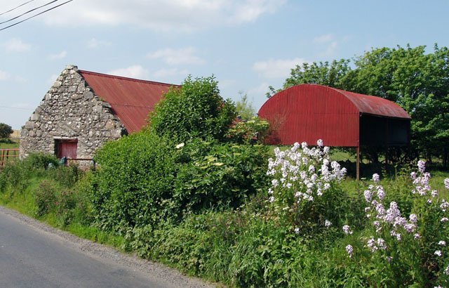 Old Barns By Road North Of 169 Liz Mccabe Geograph Ireland