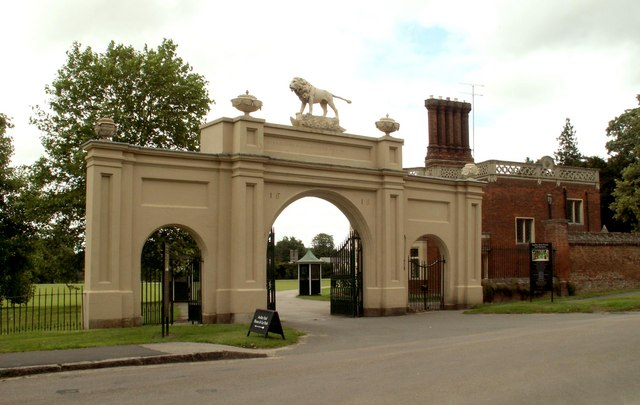 The entrance to Audley End House