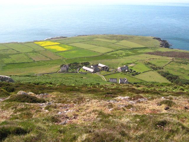 Ynys Enlli, Abbey, Chapel, farms and fields