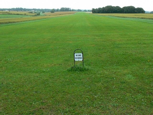 Grass airstrip near Badminton