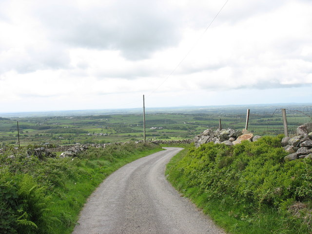 The road down to Rhiwlas