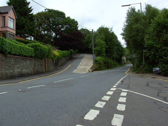 Argoed road junction