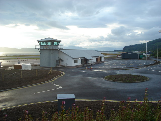 New control tower and terminal building at Oban Airport, North Connel
