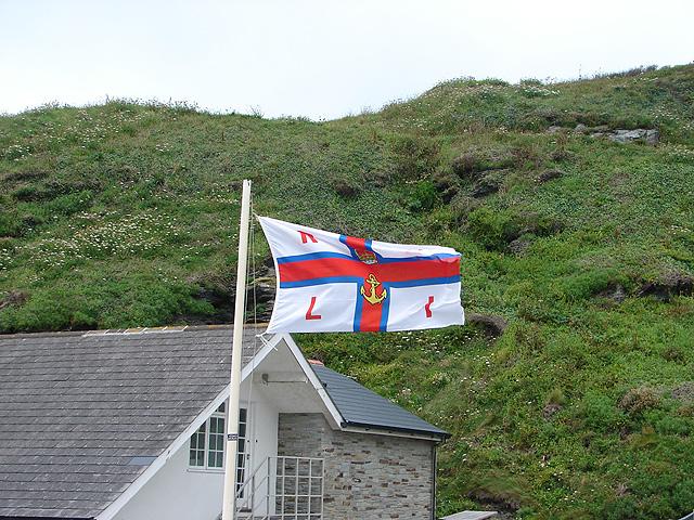 RNLI flag at Trebarwith