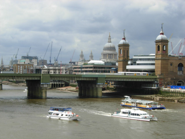 River Thames and Cannon Street Station