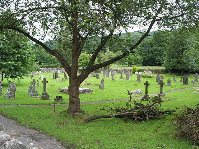 The churchyard at All Saints, Longhope