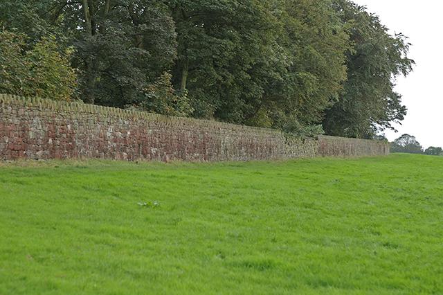 Wall at Hoghton Tower