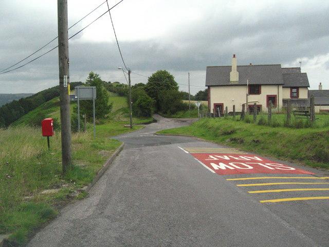 Slow sign at Pantygasseg