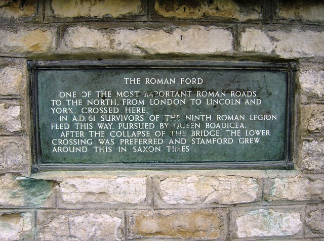 The Roman ford plaque