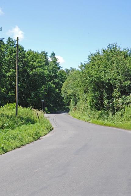 Road past Sem Hill