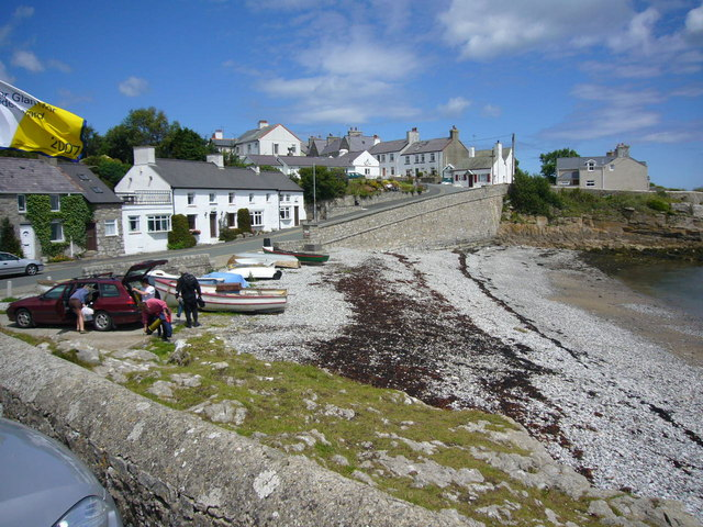 Harbour at Moelfre .
