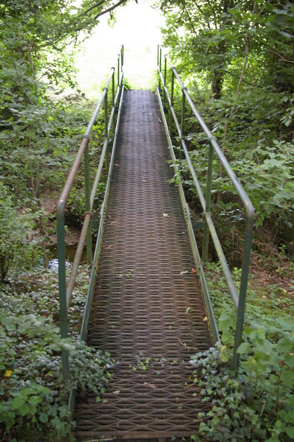 Footbridge over a brook near Bourn