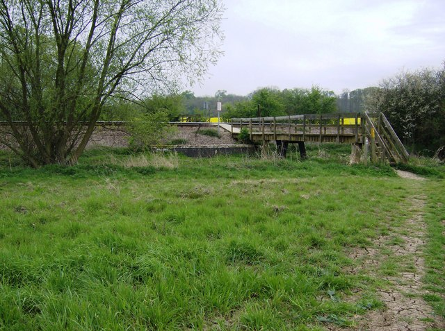 Bridge over stream and railway