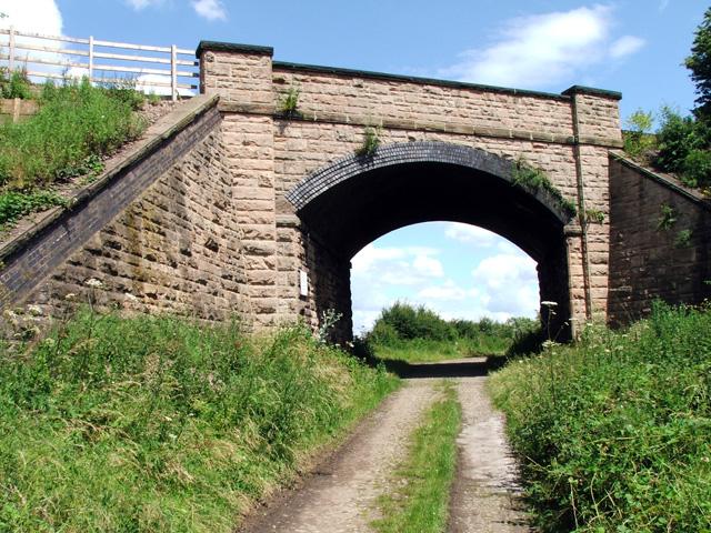 Railway bridge over byway
