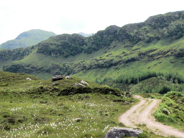 Track above Dun Grugaig