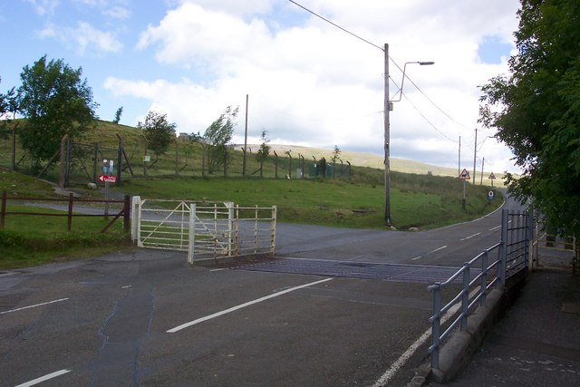 Cattle Grid at the entrance to the Brecon Beacons National Park