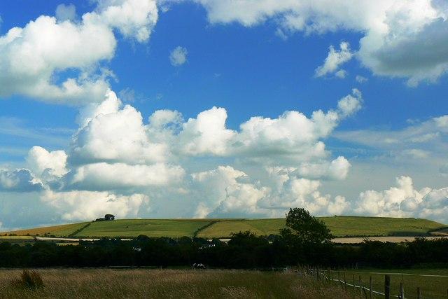 Liddington Hill from Moor Leaze, Swindon