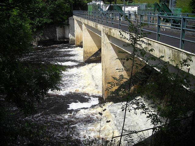 Bonnington Sluice Gates Above Falls of Clyde