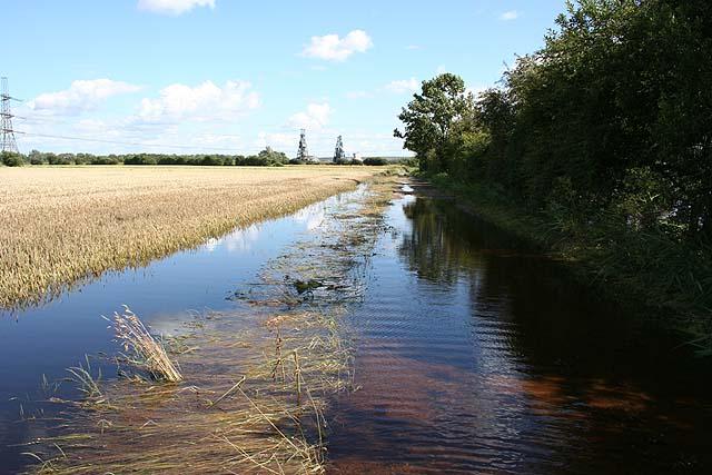 Flooded farm track, Little Moor
