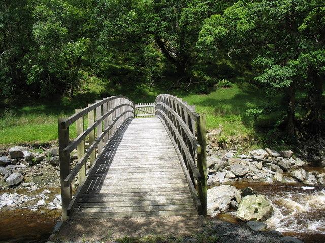 Pont Tyddyn Mawr footbridge over Y Mawddach