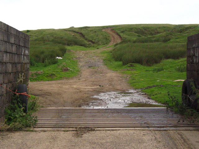 Cattle Grid onto Cefn Crib