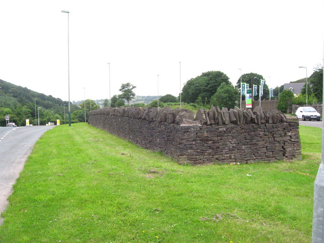 Wall in front of the Glyn