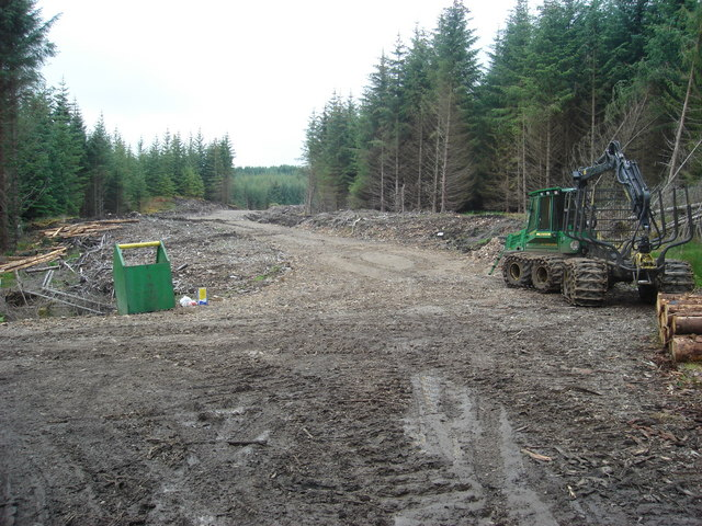 New forest track in Fearnoch Forest south of Creag Ruisgte