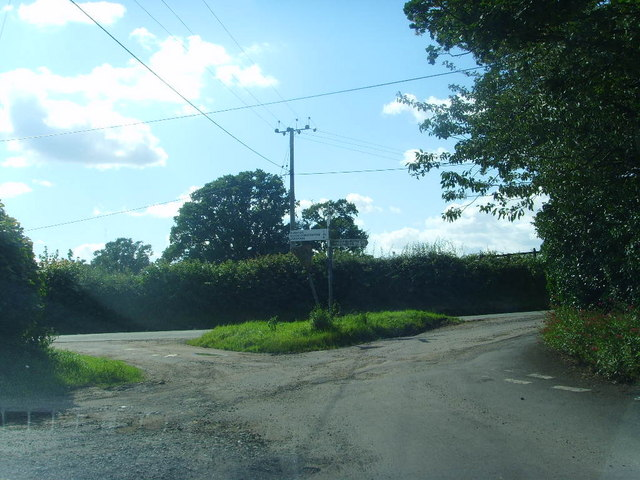 Road junction at Aston