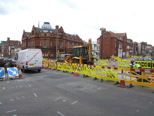 Roadworks at Monks Road, Lincoln 2
