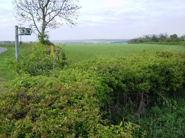 Footpath and bridleway junction
