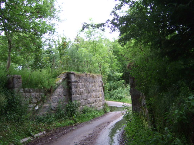 Abutments of old railway bridge