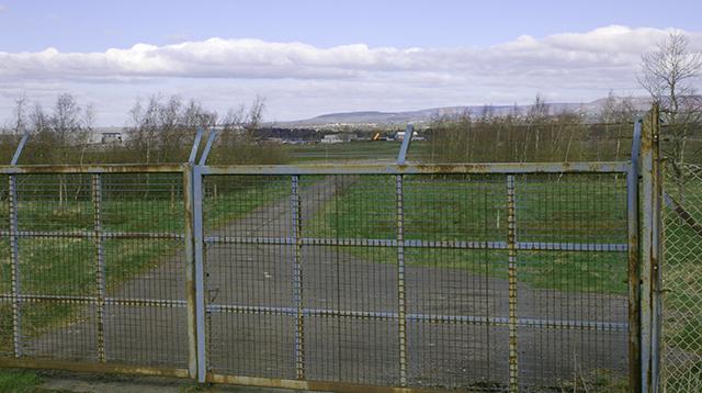 Airfield gate at BAE Samlesbury