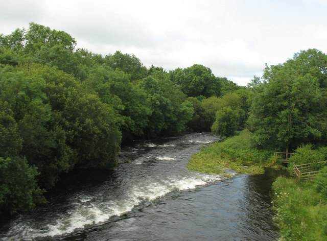 In full flow again. Afon Seiont from Pont-rug bridge