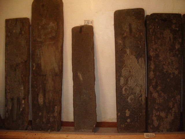 16th century carved grave slabs