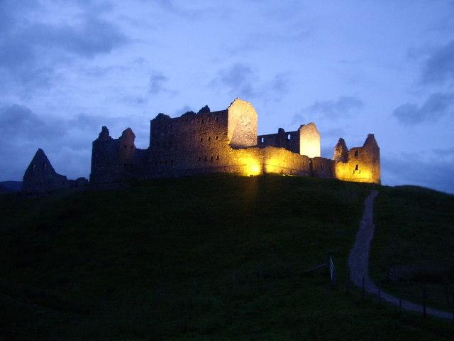 Ruthven Barracks at night