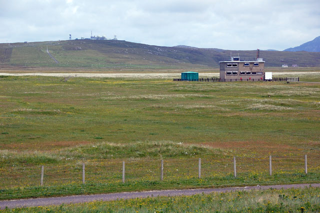 Launch area building at missile range, South Uist
