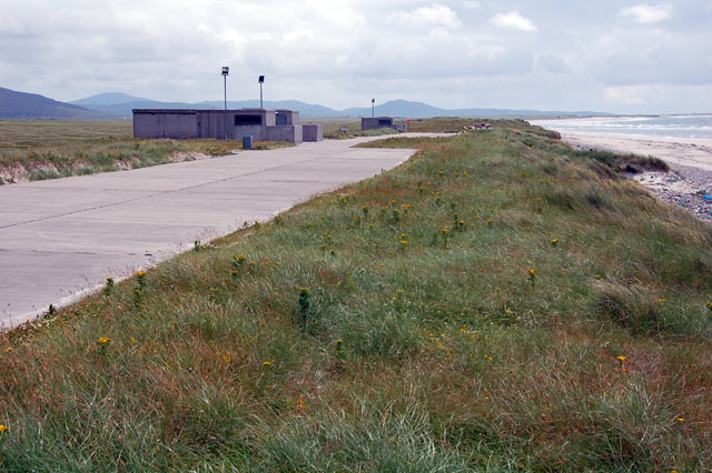 Elevated parking area on dune