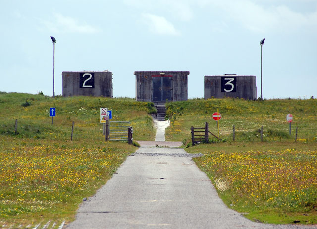 Dune-top bunkers on South Uist range