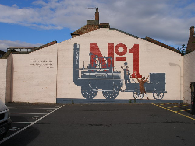 Stockton to Darlington Railway mural