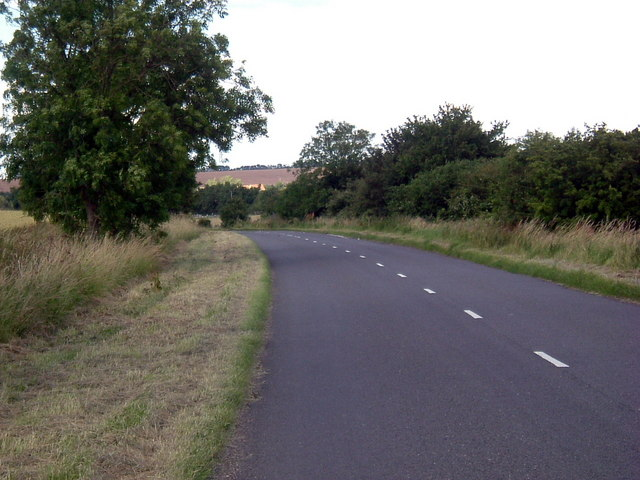 Road towards Spaldwick