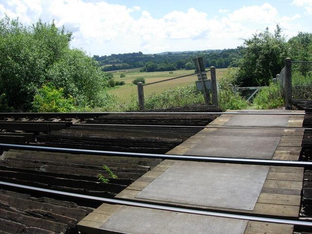 Bridleway crossing railway track