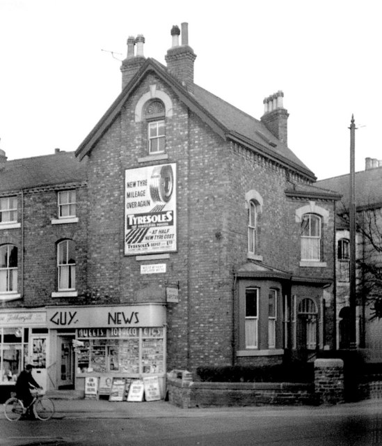 Corner of Mount Street & Leeds Road, Harrogate, 1955