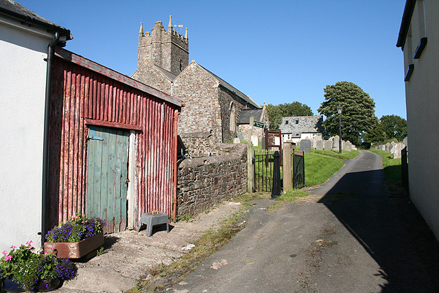 Yarnscombe: by St Andrew's church
